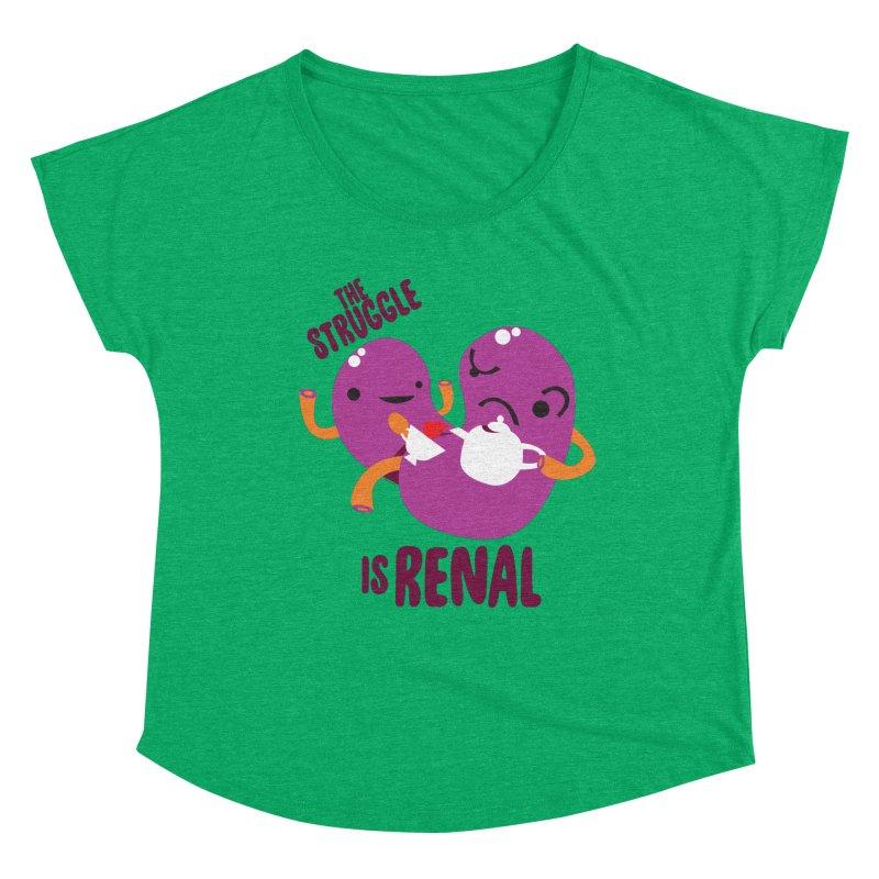 Kidney - The Struggle is Renal Women's Dolman Scoop Neck by I Heart Guts