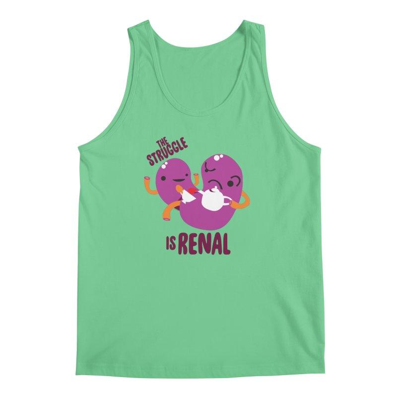 Kidney - The Struggle is Renal Men's Regular Tank by I Heart Guts
