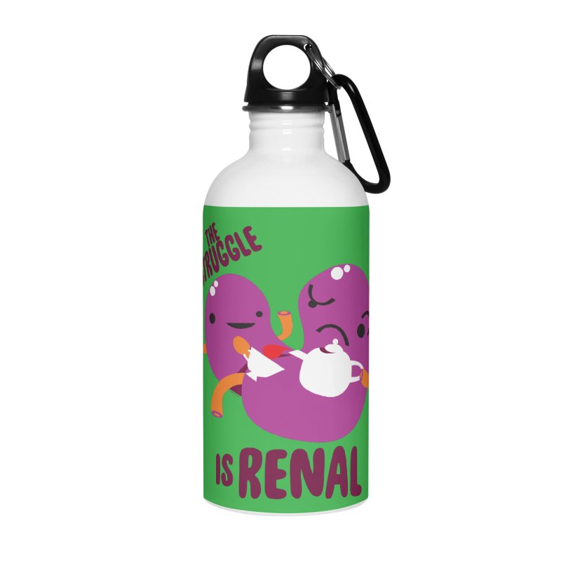 Kidney - The Struggle is Renal Accessories Water Bottle by I Heart Guts