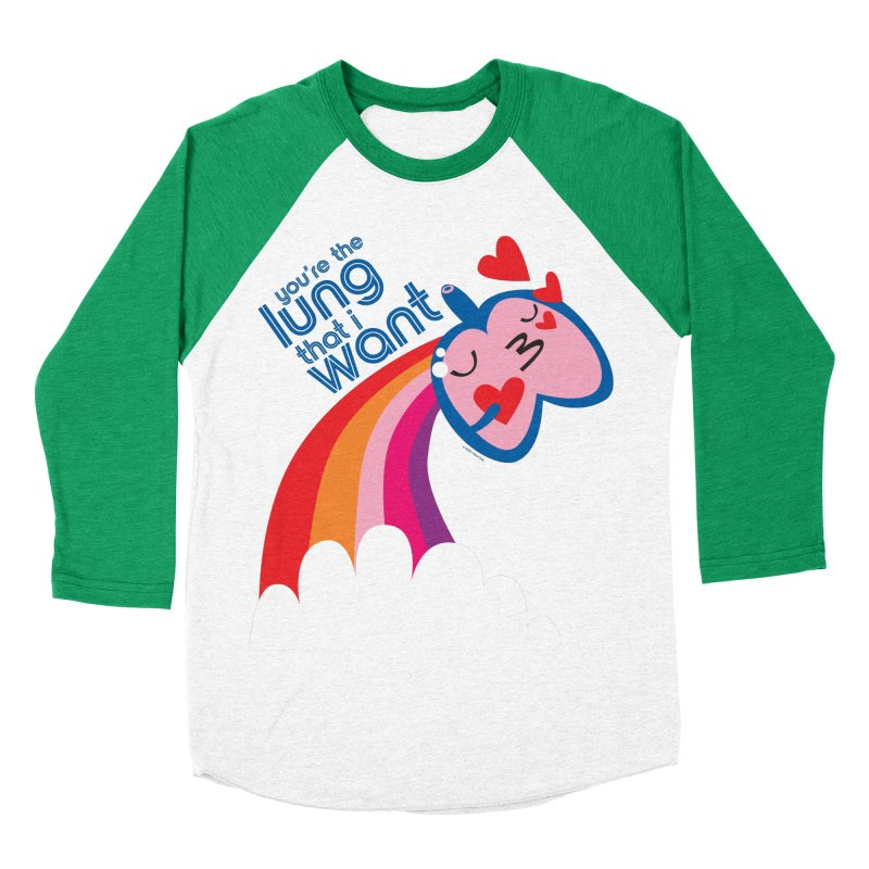 Lung That I Want Women's Baseball Triblend Longsleeve T-Shirt by I Heart Guts