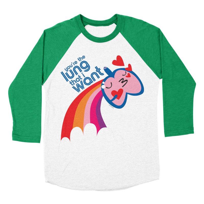 Lung That I Want Men's Baseball Triblend Longsleeve T-Shirt by I Heart Guts