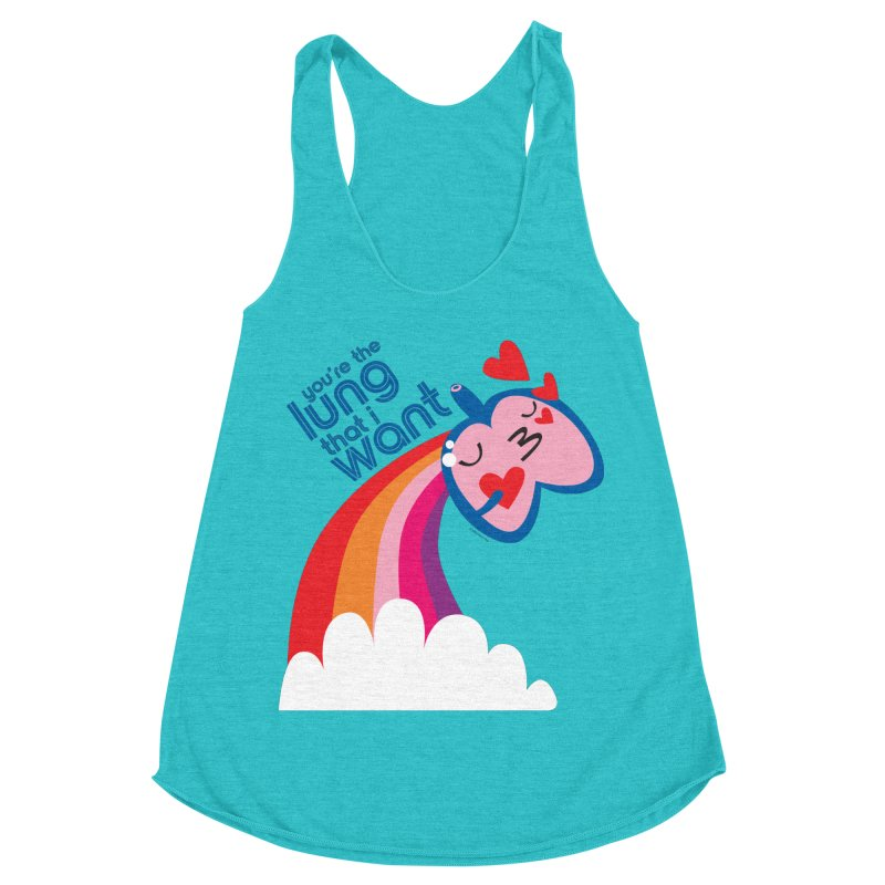 Lung That I Want Women's Racerback Triblend Tank by I Heart Guts