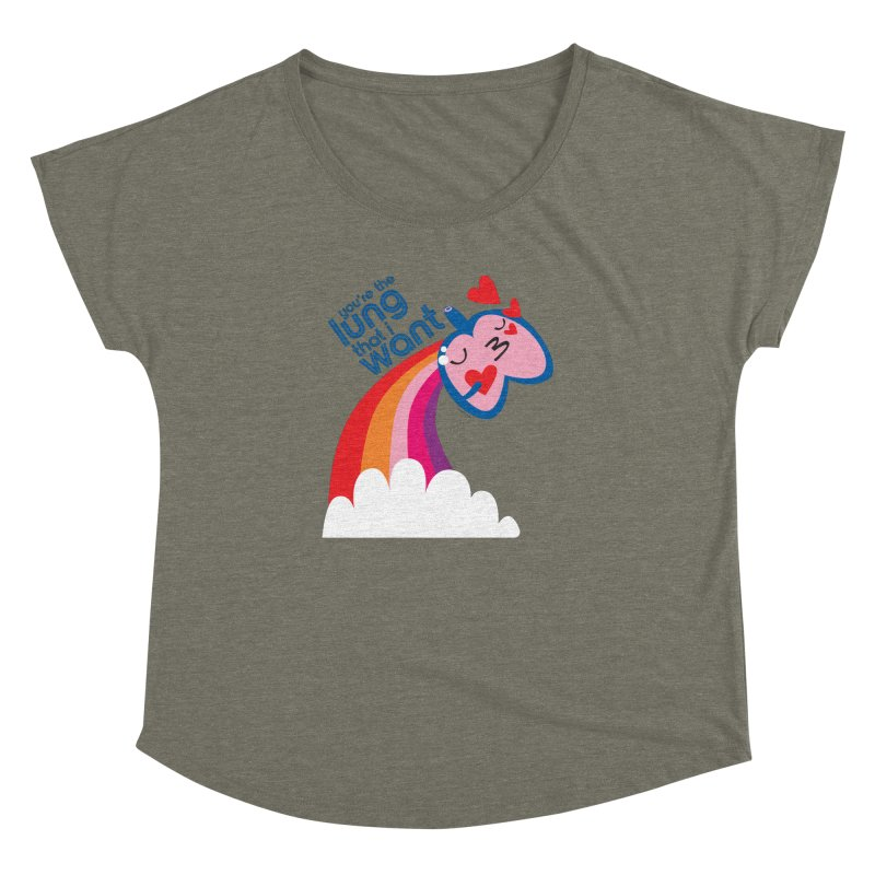Lung That I Want Women's Dolman Scoop Neck by I Heart Guts