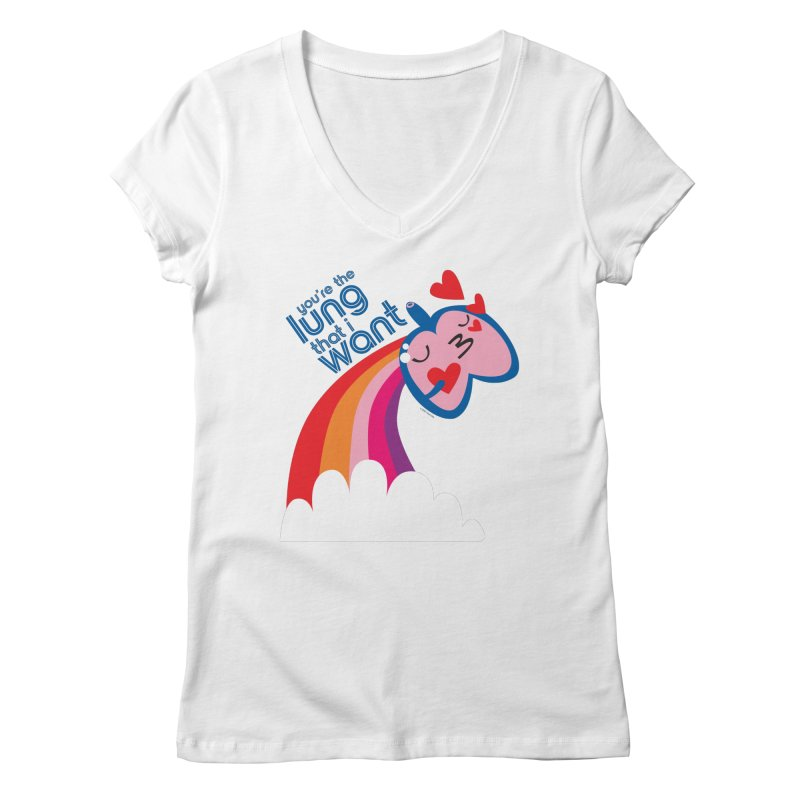 Lung That I Want Women's Regular V-Neck by I Heart Guts