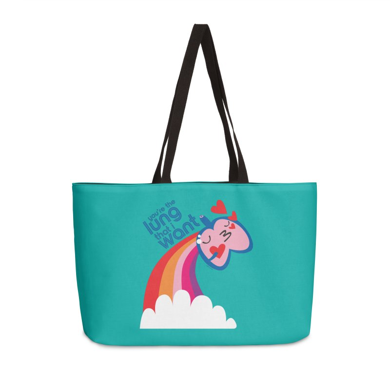 Lung That I Want Accessories Weekender Bag Bag by I Heart Guts