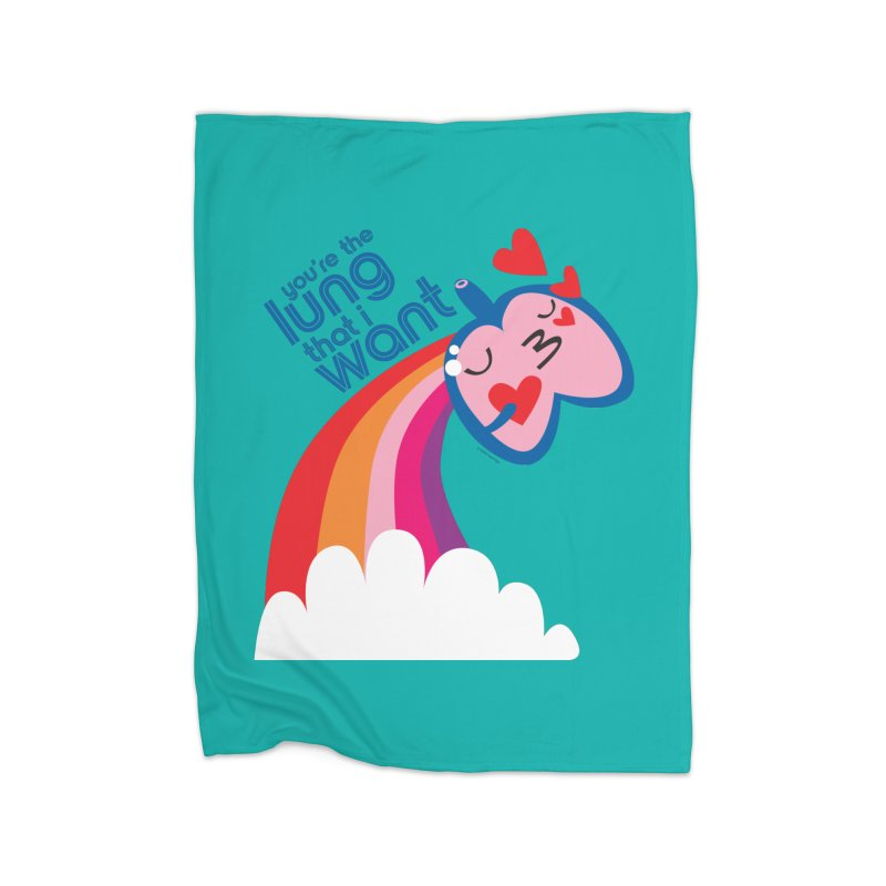 Lung That I Want Home Blanket by I Heart Guts