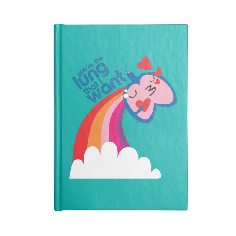 Lung That I Want Accessories Lined Journal Notebook by I Heart Guts