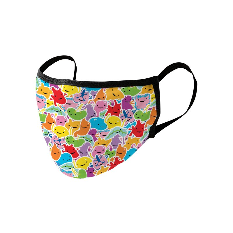 Rainbow Guts Pattern Accessories Face Mask by I Heart Guts