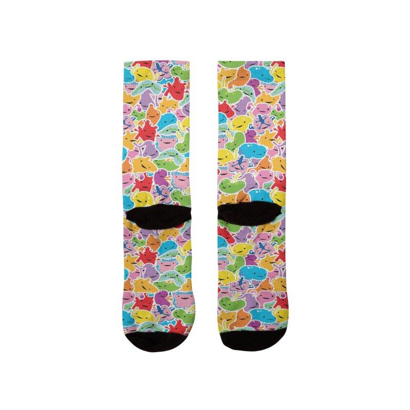 Rainbow Guts Pattern Women's Socks by I Heart Guts