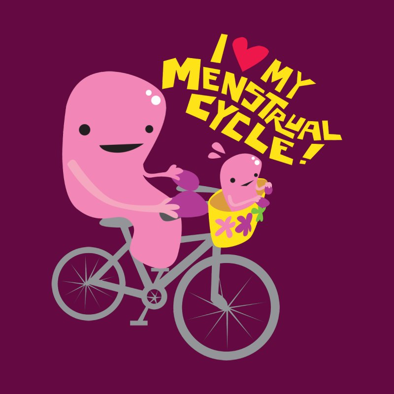Love My Menstrual Cycle - Uterus on a Bicycle Men's T-Shirt by I Heart Guts