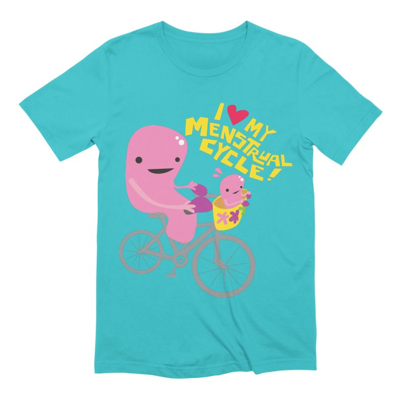 Love My Menstrual Cycle - Uterus on a Bicycle Men's Extra Soft T-Shirt by I Heart Guts