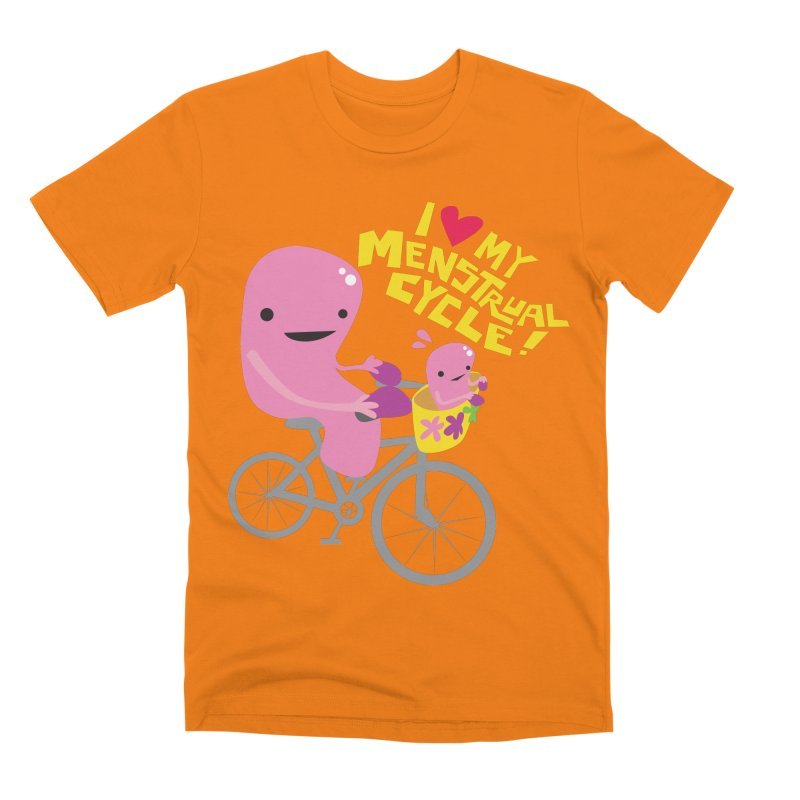 Love My Menstrual Cycle - Uterus on a Bicycle Men's Premium T-Shirt by I Heart Guts