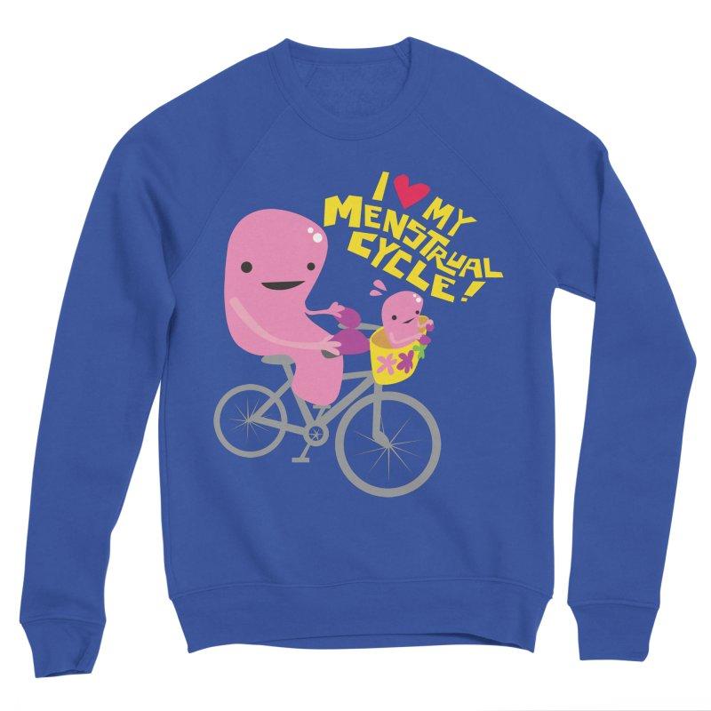 Love My Menstrual Cycle - Uterus on a Bicycle Women's Sponge Fleece Sweatshirt by I Heart Guts