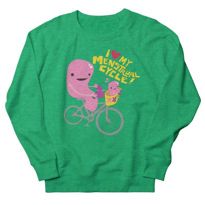 Love My Menstrual Cycle - Uterus on a Bicycle Women's Sweatshirt by I Heart Guts