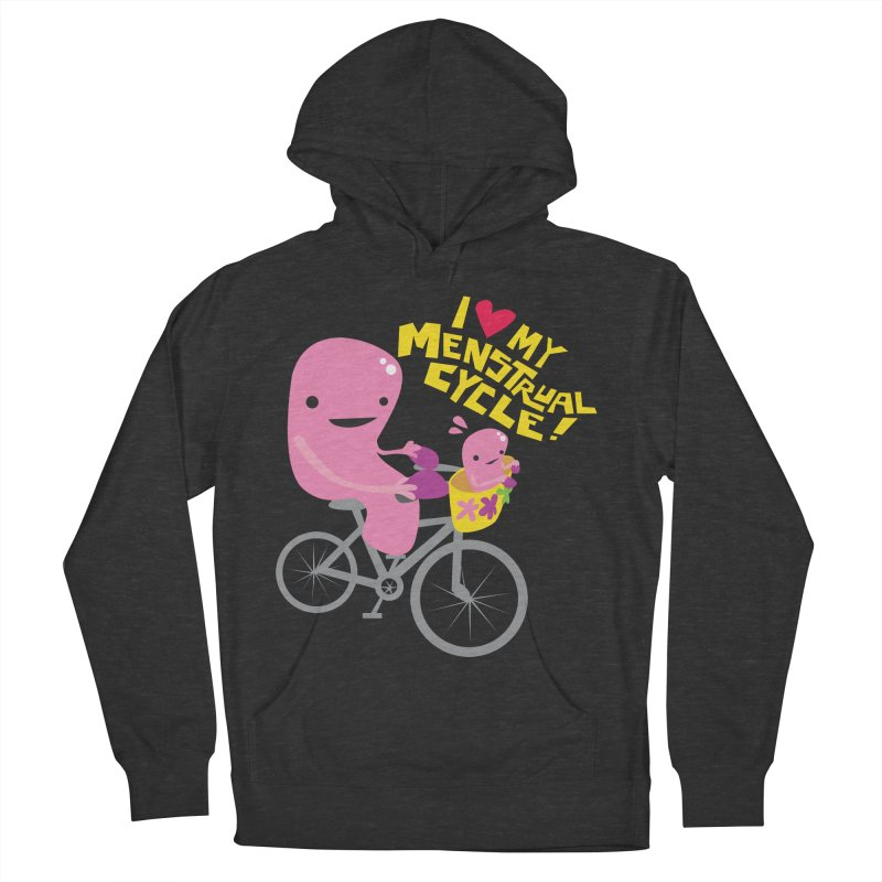 Love My Menstrual Cycle - Uterus on a Bicycle Men's French Terry Pullover Hoody by I Heart Guts