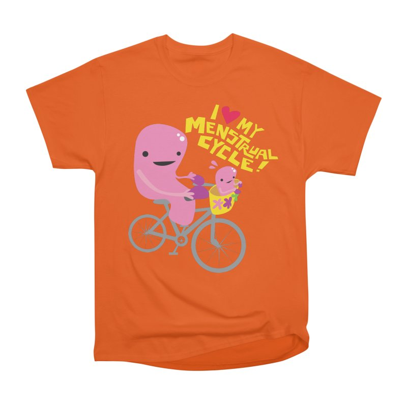 Love My Menstrual Cycle - Uterus on a Bicycle Women's T-Shirt by I Heart Guts