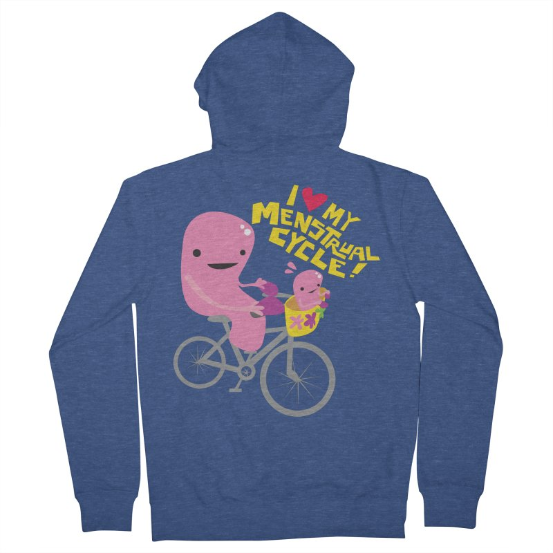 Love My Menstrual Cycle - Uterus on a Bicycle Men's French Terry Zip-Up Hoody by I Heart Guts