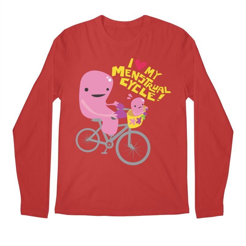 Love My Menstrual Cycle - Uterus on a Bicycle Men's Regular Longsleeve T-Shirt by I Heart Guts
