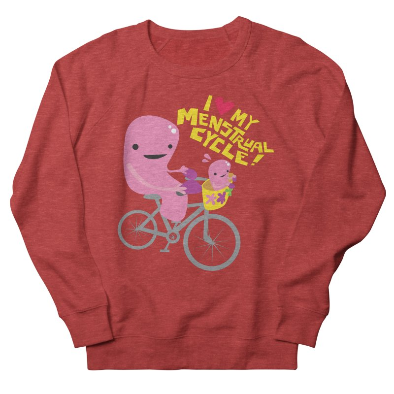 Love My Menstrual Cycle - Uterus on a Bicycle Men's French Terry Sweatshirt by I Heart Guts