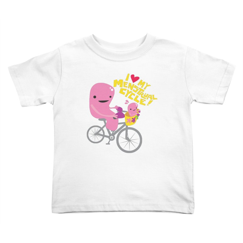 Love My Menstrual Cycle - Uterus on a Bicycle Kids Toddler T-Shirt by I Heart Guts