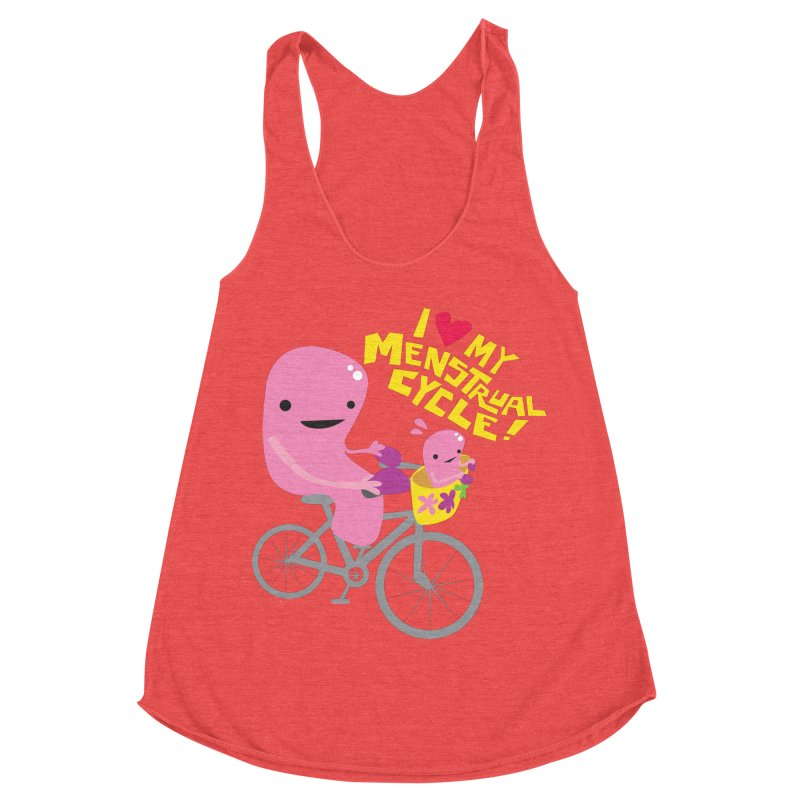 Love My Menstrual Cycle - Uterus on a Bicycle Women's Tank by I Heart Guts