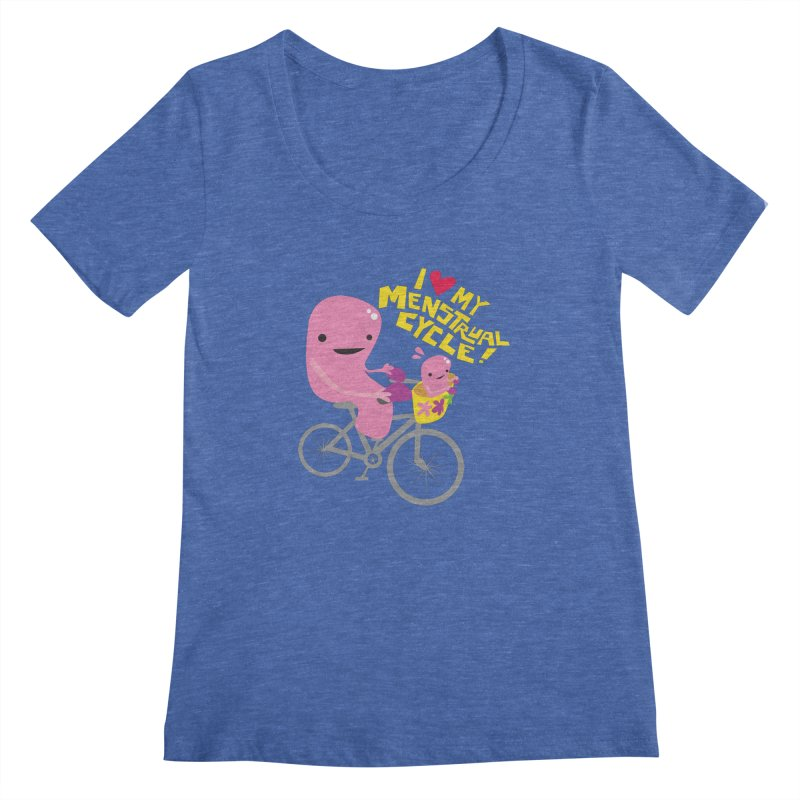 Love My Menstrual Cycle - Uterus on a Bicycle Women's Regular Scoop Neck by I Heart Guts