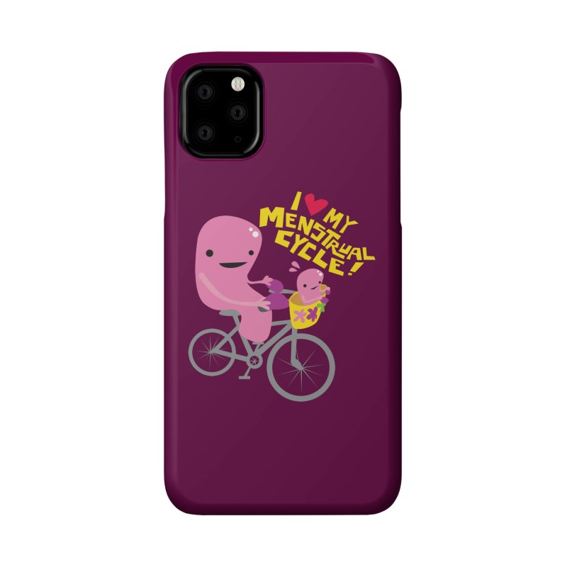 Love My Menstrual Cycle - Uterus on a Bicycle Accessories Phone Case by I Heart Guts