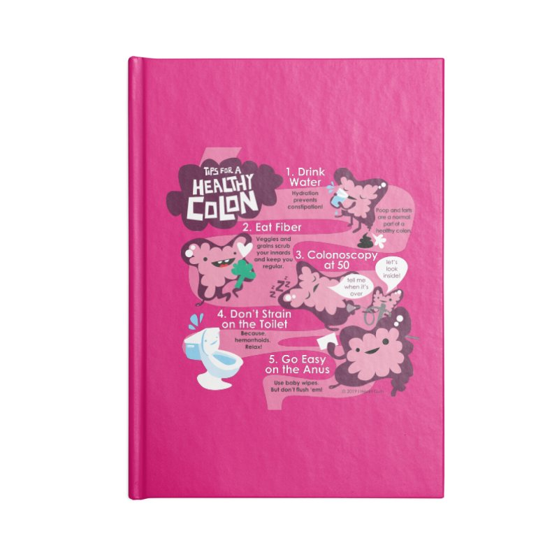 Colon Care Accessories Blank Journal Notebook by I Heart Guts
