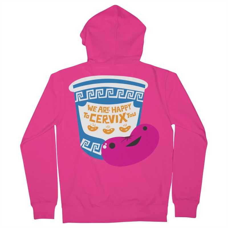 Cervix - We Are Happy to Cervix You Men's French Terry Zip-Up Hoody by I Heart Guts