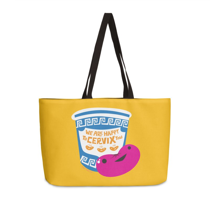 Cervix - We Are Happy to Cervix You Accessories Weekender Bag Bag by I Heart Guts