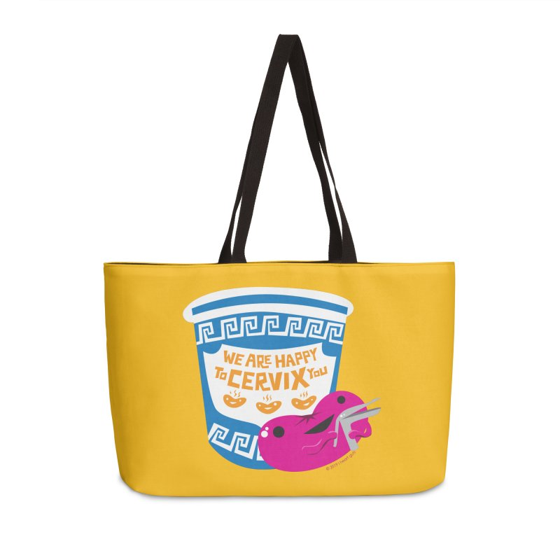 Cervix - We Are Happy to Cervix You Accessories Bag by I Heart Guts