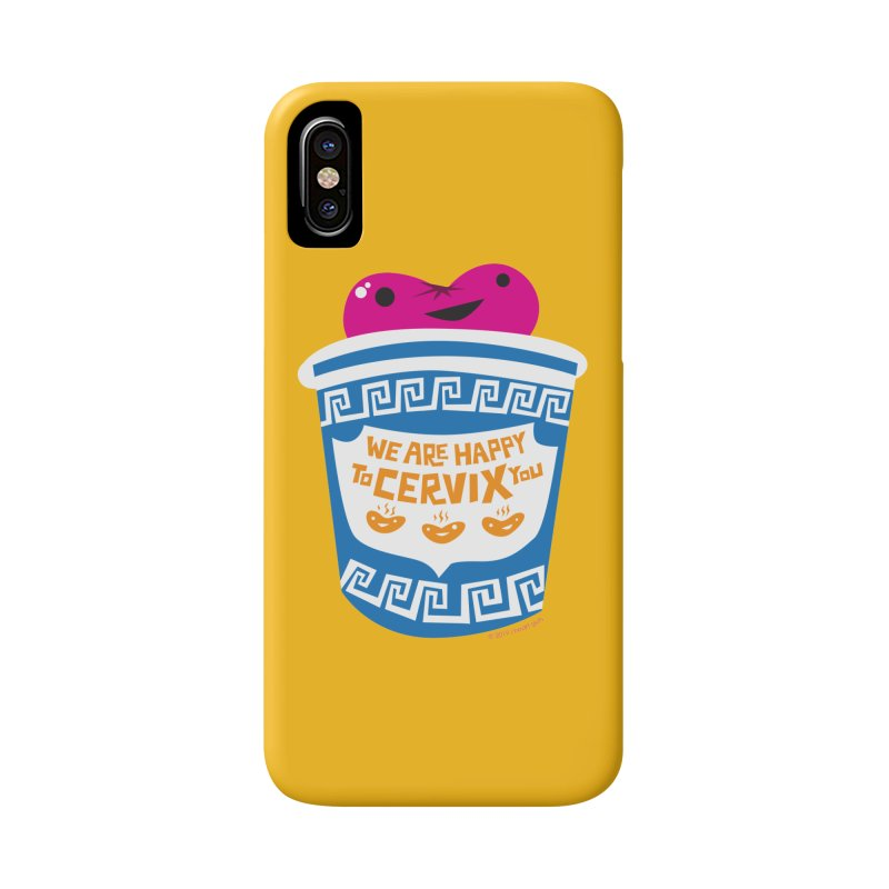Cervix - We Are Happy to Cervix You in iPhone X / XS Phone Case Slim by I Heart Guts