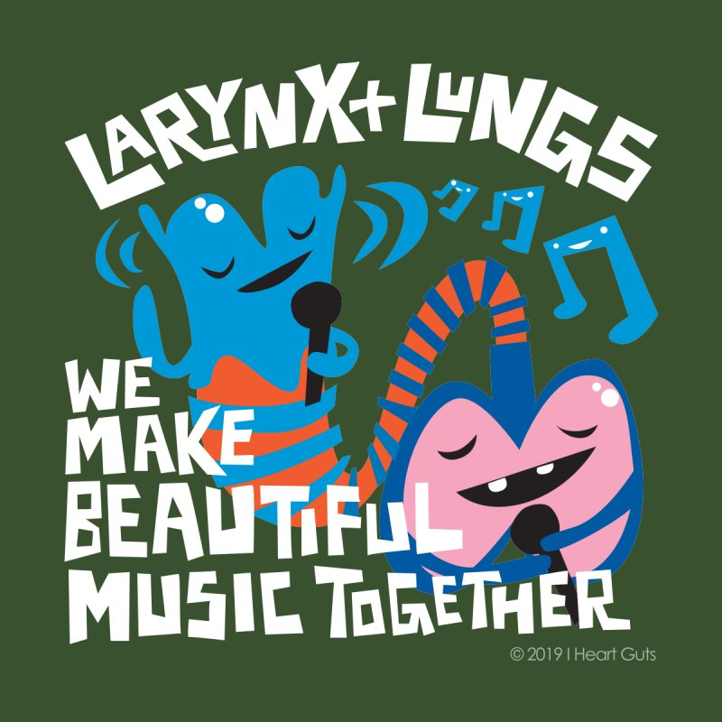 Larynx + Lungs: We Make Music Men's Sweatshirt by I Heart Guts