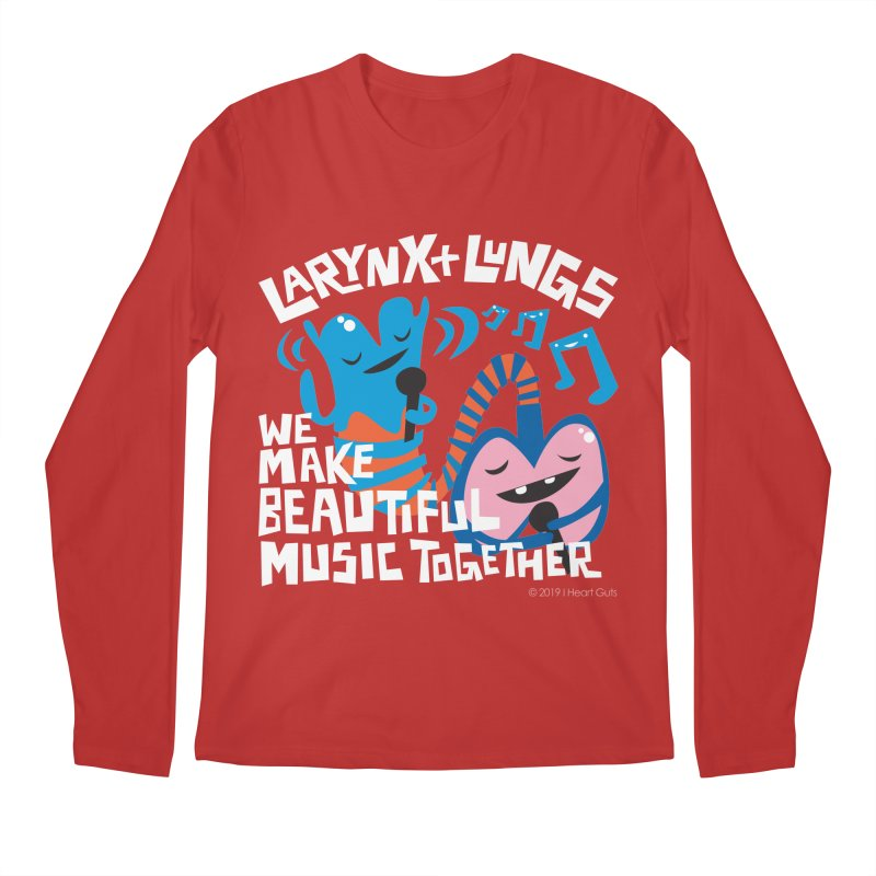 Larynx + Lungs: We Make Music Men's Regular Longsleeve T-Shirt by I Heart Guts