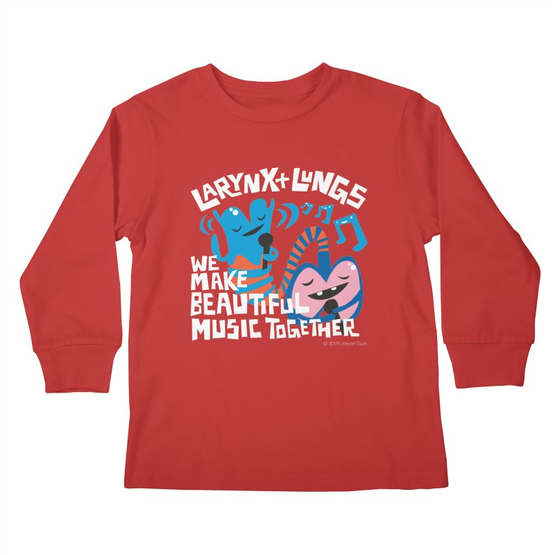 Larynx + Lungs: We Make Music Kids Longsleeve T-Shirt by I Heart Guts