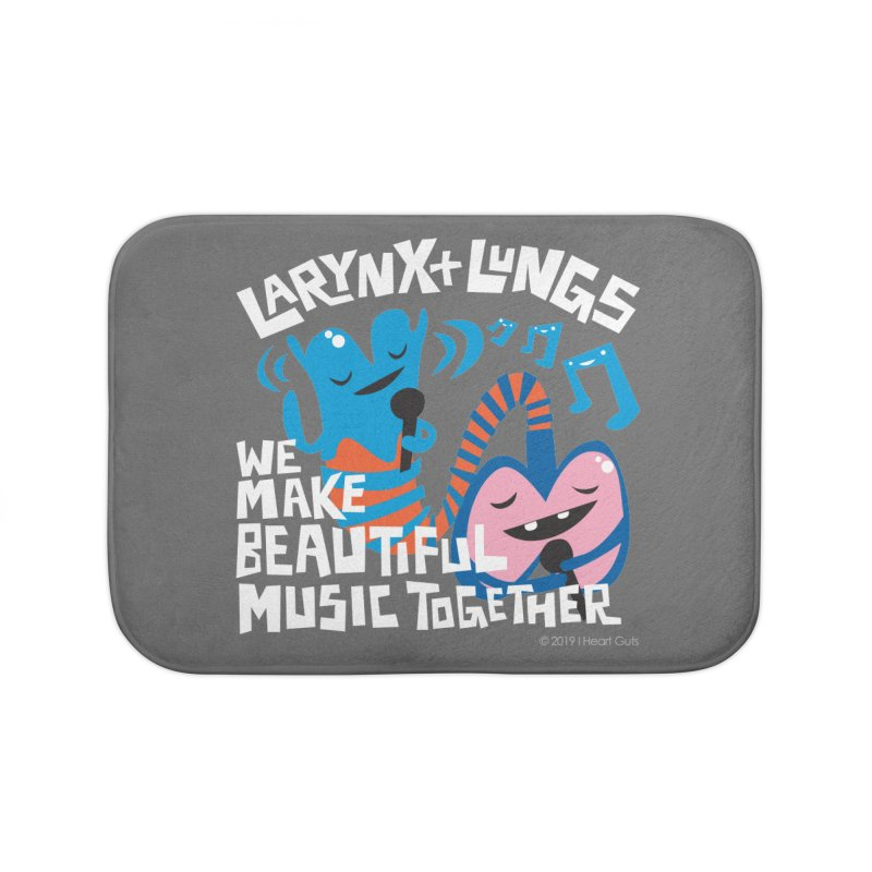 Larynx + Lungs: We Make Music Home Bath Mat by I Heart Guts