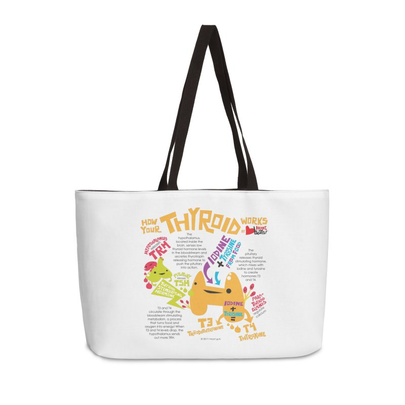 How Your Thyroid Works Accessories Weekender Bag Bag by I Heart Guts