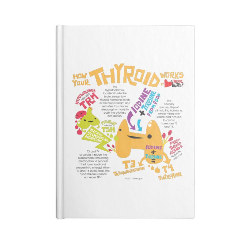 How Your Thyroid Works Accessories Lined Journal Notebook by I Heart Guts