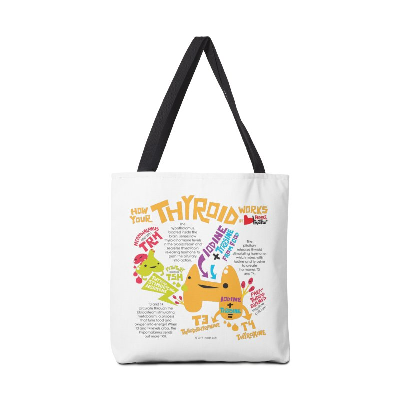 How Your Thyroid Works Accessories Tote Bag Bag by I Heart Guts