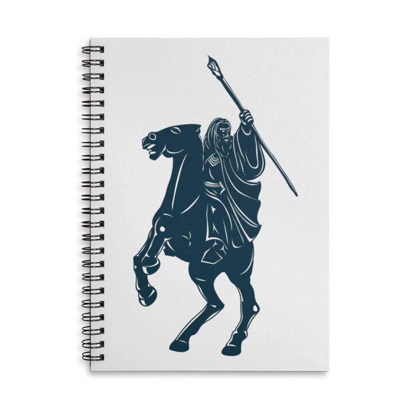 Gandalf Lauren Accessories Lined Spiral Notebook by ikado's Artist Shop