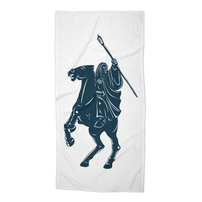 Gandalf Lauren Accessories Beach Towel by ikado's Artist Shop