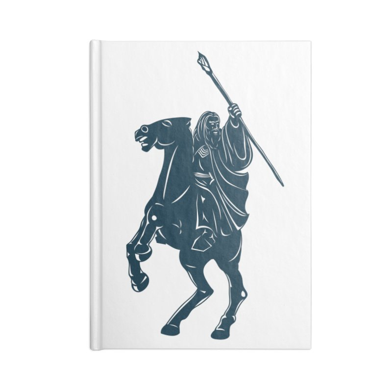 Gandalf Lauren Accessories Lined Journal Notebook by ikado's Artist Shop