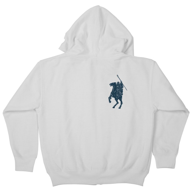Gandalf Lauren Kids Zip-Up Hoody by ikado's Artist Shop