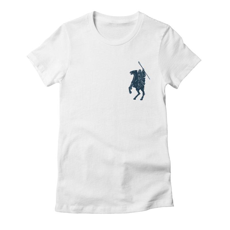 Gandalf Lauren Women's Fitted T-Shirt by ikado's Artist Shop