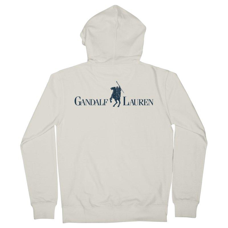 Gandalf Lauren 2 Men's Zip-Up Hoody by ikado's Artist Shop