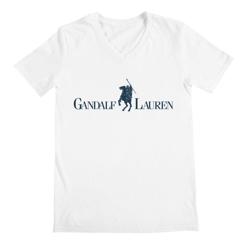 Gandalf Lauren 2 Men's V-Neck by ikado's Artist Shop