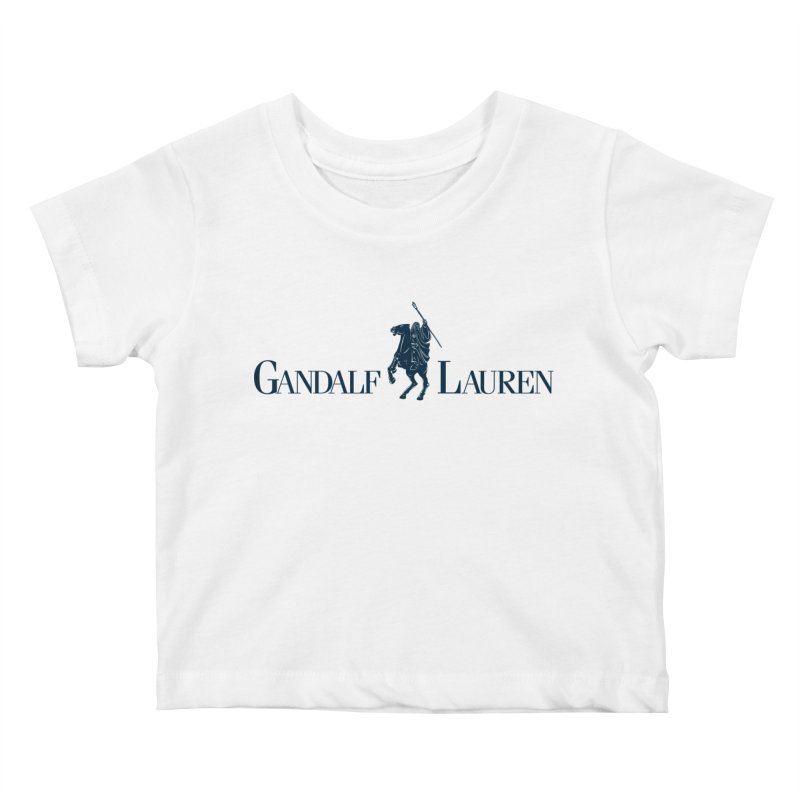 Gandalf Lauren 2 Kids Baby T-Shirt by ikado's Artist Shop