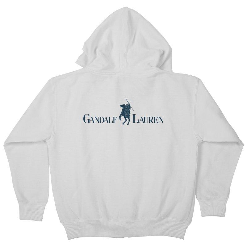 Gandalf Lauren 2 Kids Zip-Up Hoody by ikado's Artist Shop
