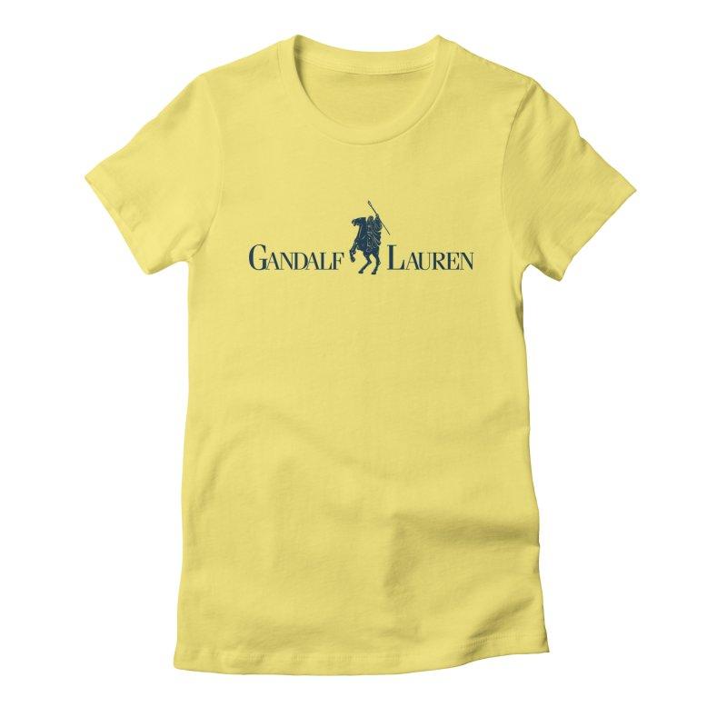 Gandalf Lauren 2 Women's Fitted T-Shirt by ikado's Artist Shop