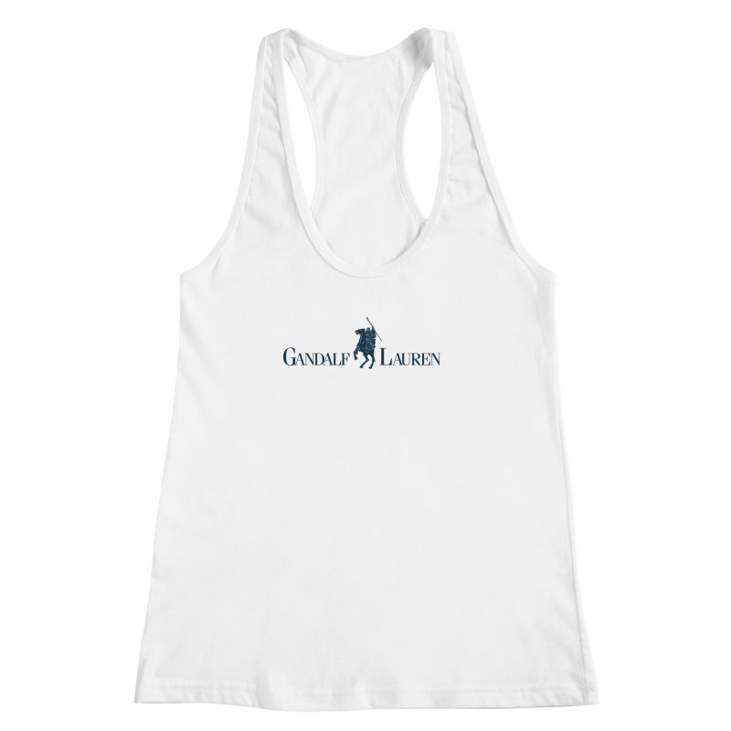 Gandalf Lauren 2 Women's Racerback Tank by ikado's Artist Shop